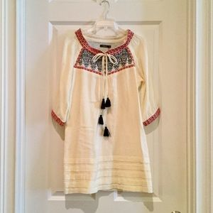 Theme Embroidered Peasant Dress - Size M